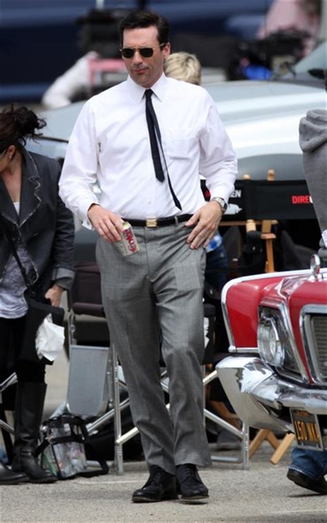 on the set of mad men at the office in the home artwork jon hamm on the set of mad men zimbio