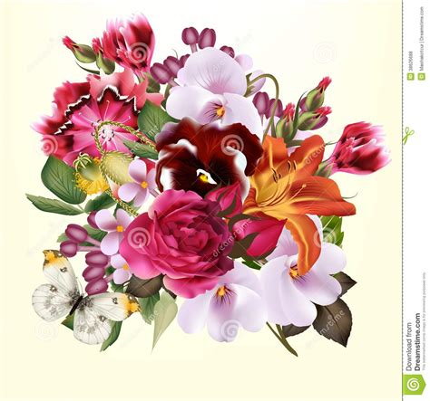 Fashion Floral Background Royalty Free Stock Photos Flower Bouquet Powerpoint Templates Fashion