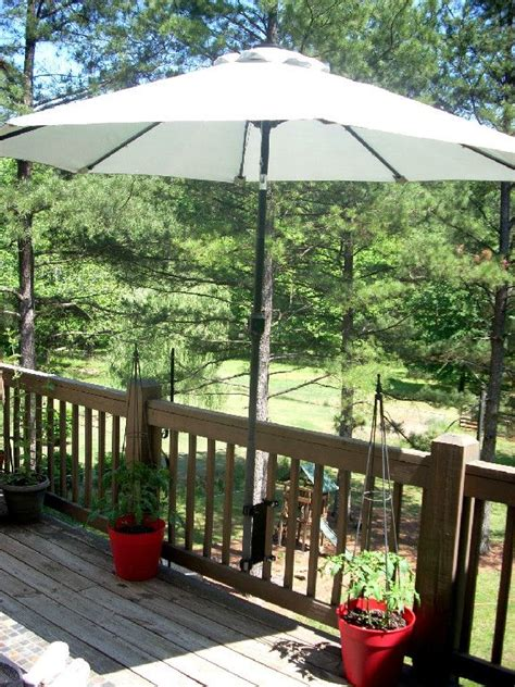 Patio Umbrella Mounts Umbrella Mount For Deck For The Home
