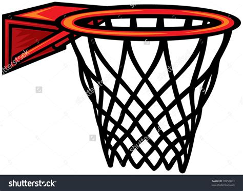 How To Make A Basketball Net Out Of Paper - basketball net vector clipart clipartsgram