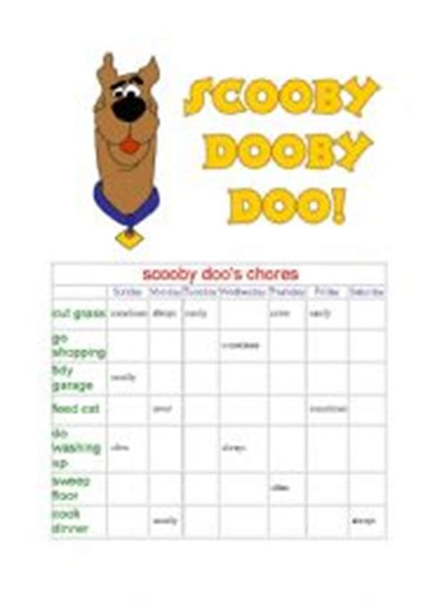 printable scooby doo activity sheets english teaching worksheets scooby doo