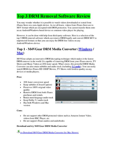 best drm remover top 3 drm removal software review authorstream