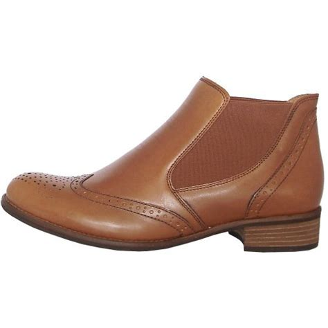 gabor boots steffi brogue style ankle boot in brown mozimo