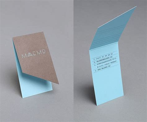 Unique Paper Folds - 25 best ideas about folded business cards on