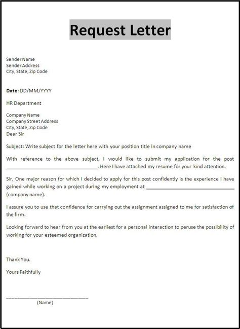 Request Letter Format For Employment Certificate exles of request letter for certificate of employment