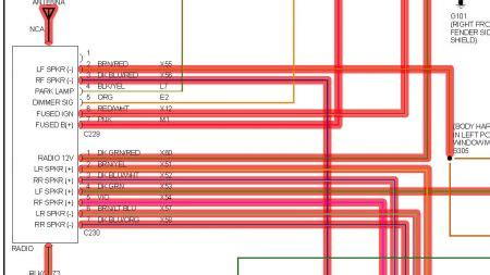 stereo wiring diagrams  engine    color code