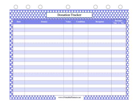 donation tracker template donation tracker