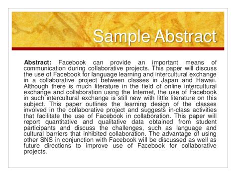 How To Make Paper Presentation Abstract - how to make paper presentation abstract 28 images