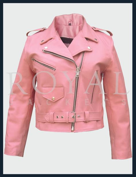 pink leather motorcycle jacket pink motorcycle leather jacket for