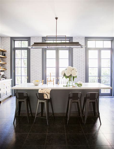 west village townhouse with modern kitchen island