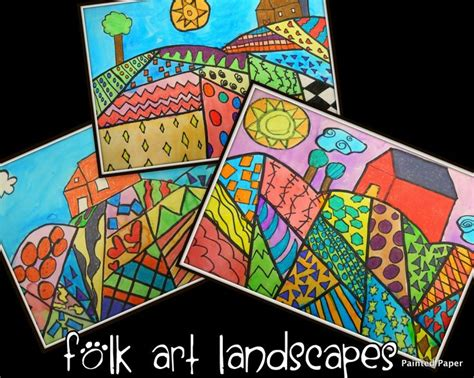 pattern in art lesson plan 25 best landscapes art projects for kids images on