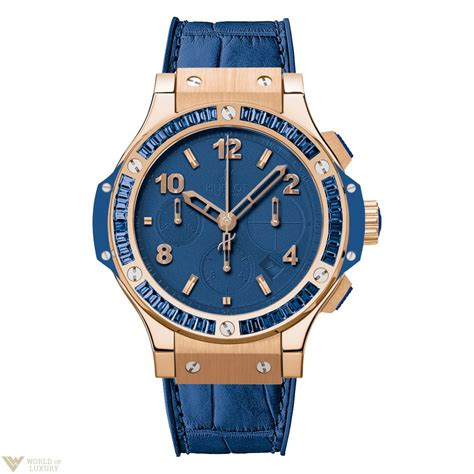 Hublot Bigbang Rosegold Blue Rubber hublot big tutti frutti blue chronograph 18k