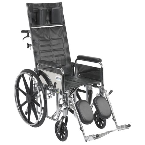reclining transport chair sentra reclining wheelchair with detachable arms