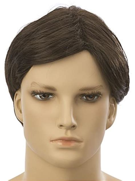 male fashion mannequin wigs wigs for realistic male male mannequin wig short style in dark brown