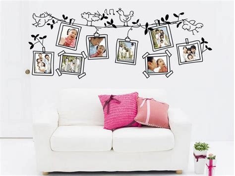 Wallpaper Sticker Batu Alam 02 aliexpress buy black bird wall sticker photo frame photo sticker alphabet self