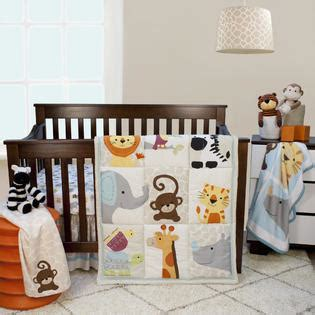 lambs and ivy baby bedding lambs ivy zoomba 3 piece animal crib bedding set