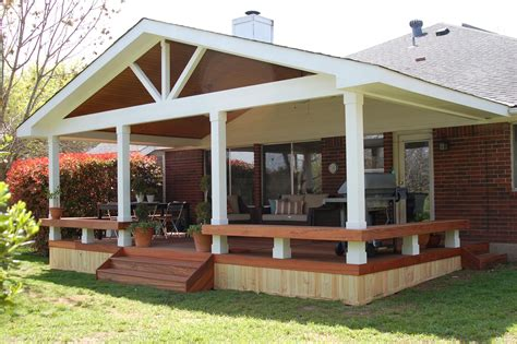 Small patio decks, deck with covered porch design ideas