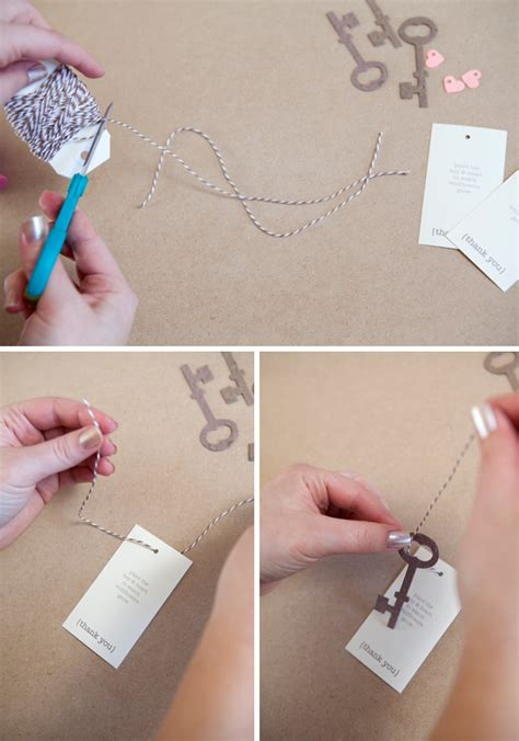 How To Make Paper Key - learn how to diy plantable wedding favors