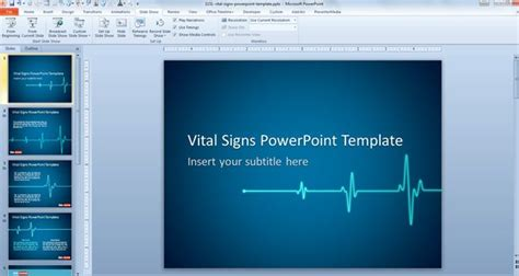 Free Animated Vital Signs Powerpoint Template Free Microsoft Powerpoint Slide Templates