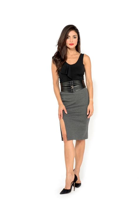 Slit Pencil Skirt pencil skirt with slits the boutique