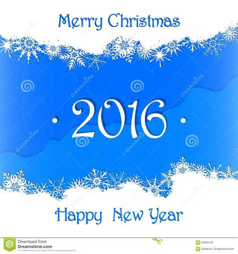 merry christmas and happy new year 2016 card background