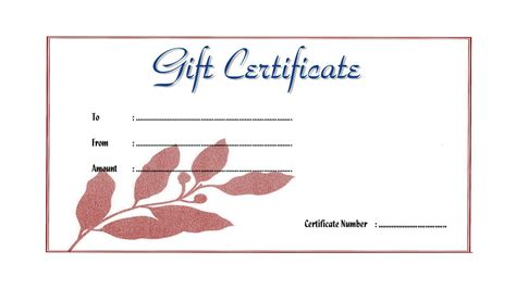 therapy gift certificate template therapy gift certificate templates lamoureph