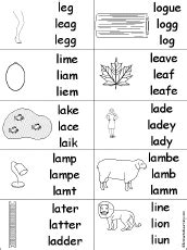 letter l alphabet activities at enchantedlearning