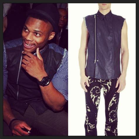 Russ Dries Grey Russ new york fashion week front row nba westbrook