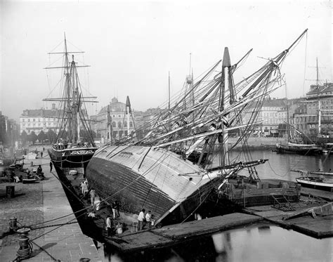 boat launch in french inside the towering shipyards of the victorian era