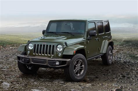 jeep models 2016 2016 jeep lineup adds 75th anniversary edition for all models