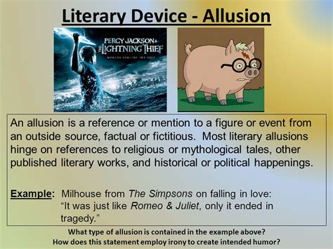 literary device allusion ppt video online download
