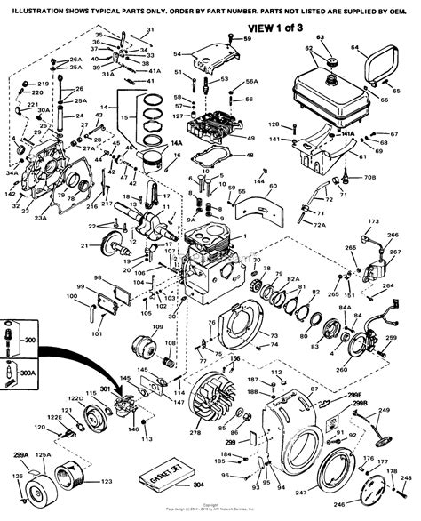 parts diagrams tecumseh hh100 115003d parts diagram for engine parts list 1