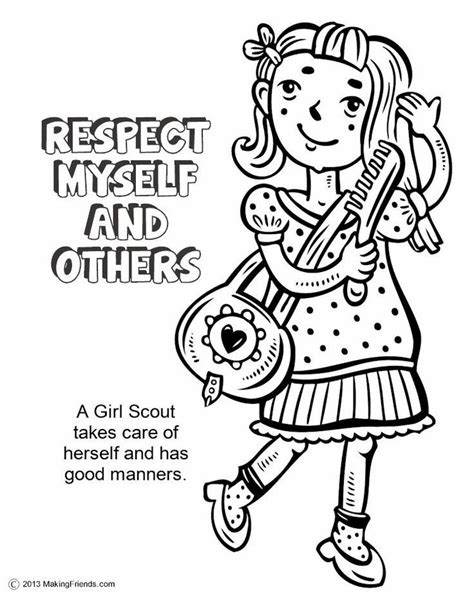 brownie girl scout coloring pages coloring home
