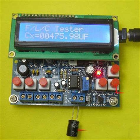 inductor capacitor led diy kit led capacitance frequency inductance tester meter 51 microcontroller ebay