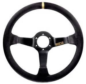 Steering Wheel For Racing Sparco Racing 325 Suede Black Steering Wheel Sparcoracingusa