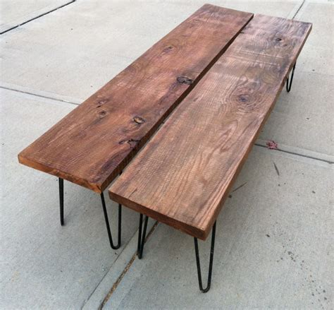 modern wood benches rustic modern wood bench by tyler kingston wood co