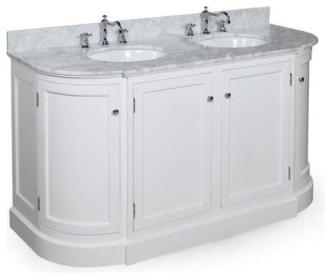 60 bathroom vanity double sink white montage 60 in double sink bath vanity carrara white traditional bathroom vanities and sink