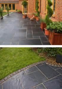 patio flags b q blue black slate paving slabs 60x30