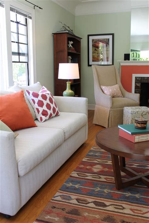 Ikat Pillows Living Room Coral Fireplace Kilim Rug And Ikat Pillow With Wingback