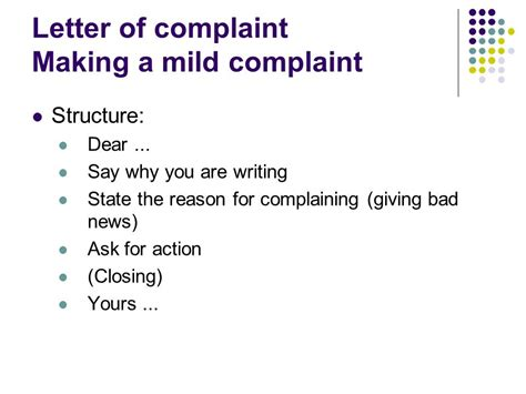 Closing Letter Of Complaint business correspondence 2 ppt