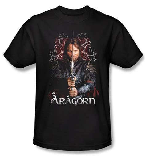 Hoodie Lord Noval Clothing the lord of the rings t shirt aragorn 2 black