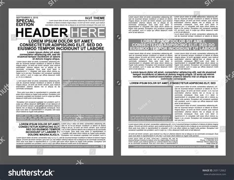 newspaper poster template newspaper style flyer template stock vector illustration