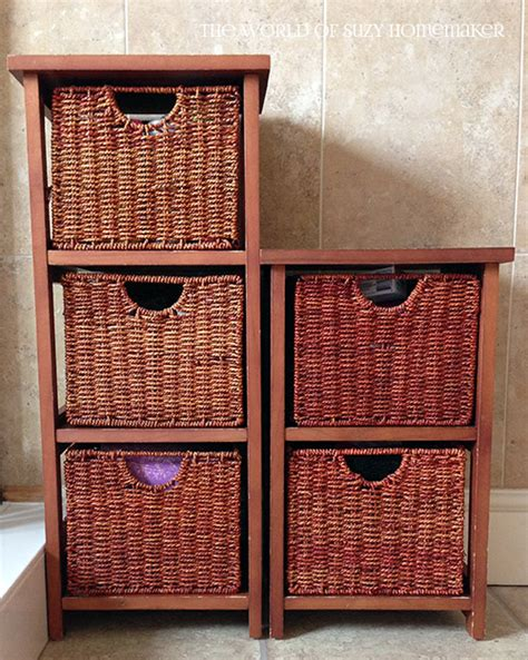 Wicker Storage Drawers Bathroom Bathroom Storage Painted Wicker Drawers Suzy H At Oneandseventy