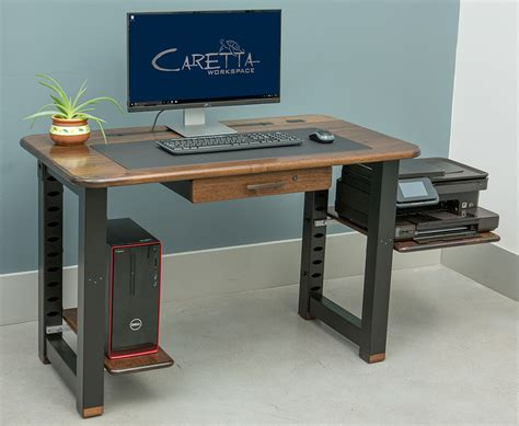 desk with printer shelf large shelf for loft desk walnut caretta workspace