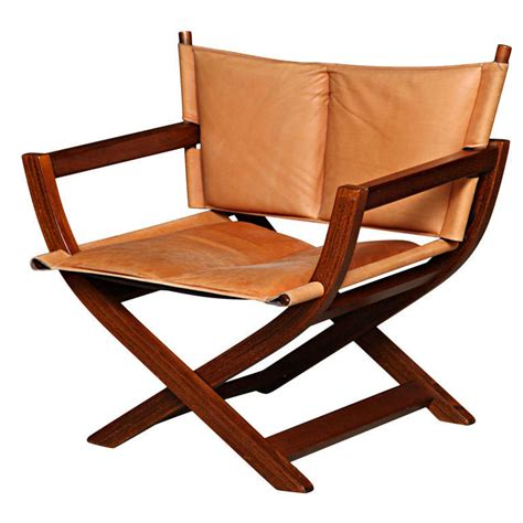leather folding chair hardwood and leather folding chair at 1stdibs