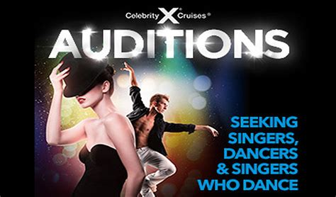 celebrity singers auditions celebrity cruises holding open auditions for singers and