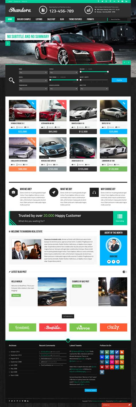 killer themes wordpress 9 killer automotive wordpress themes to help you sell any