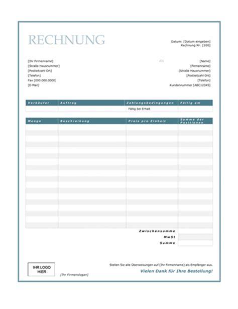 Outlook Design Vorlagen Dienstleistungsrechnung Design Quot Blauer Rahmen Quot Office Templates