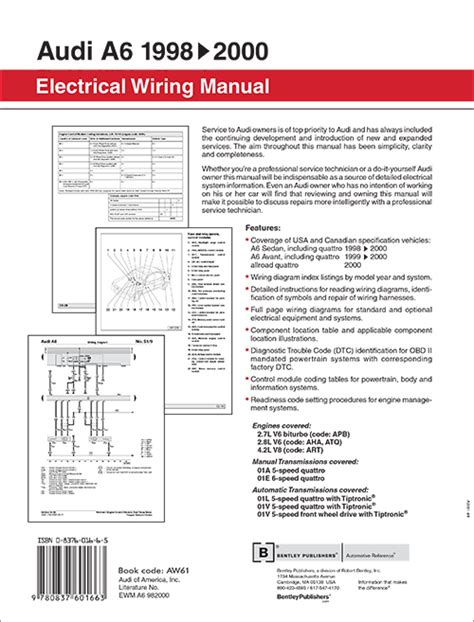 small engine repair manuals free download 1990 audi 100 navigation system back cover audi a6 electrical wiring manual 1998 2000 bentley publishers repair manuals