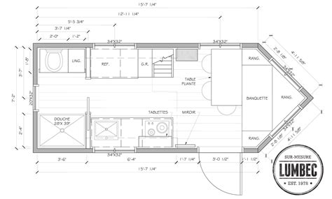 tiny house dimensions le prototype tiny house lumbec
